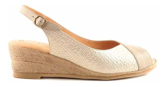 Zapato Mujer Taco Chino Acolchado Verano Cuero - Mcsd04356