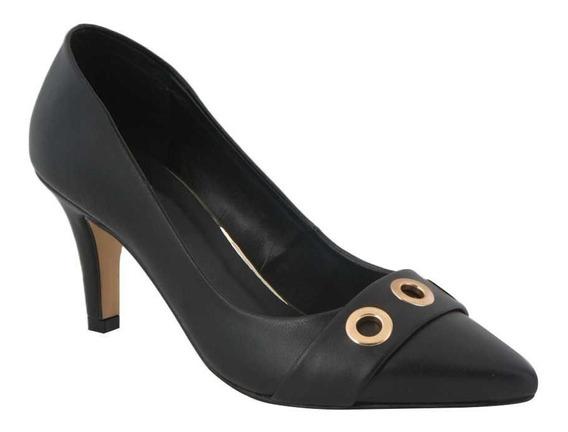 Zapatilla De Vestir Yaeli Fashion 4215 Negro Napa Ves 186404