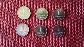 Lote Moneda De 1 Centavo Argentino Año 92, 93, 97, 98 Y 2000