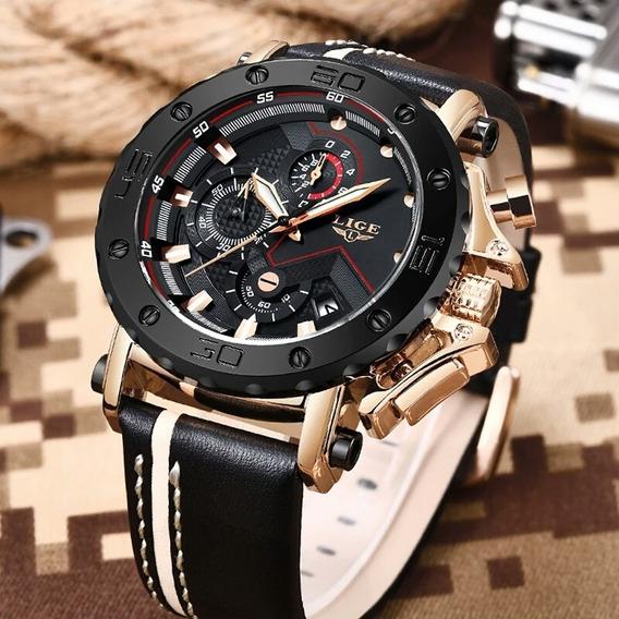 Relógio Masculino Lige 9899 Luxo Casual Esportivo