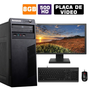Computador Completo Cpu Lenovo I5 8gb Hd 500 Wifi Monitor
