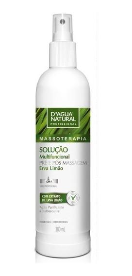 Kit C/3 Solução Pré Pós Massagem 380ml Dagua Natural