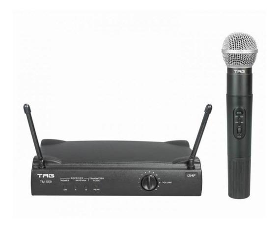 Microfone Sem Fio Tagsound Tm559 Uhf