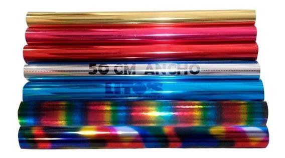 Papel Foil Serigrafia Laser Minc Paquete 10 Mts Lineales