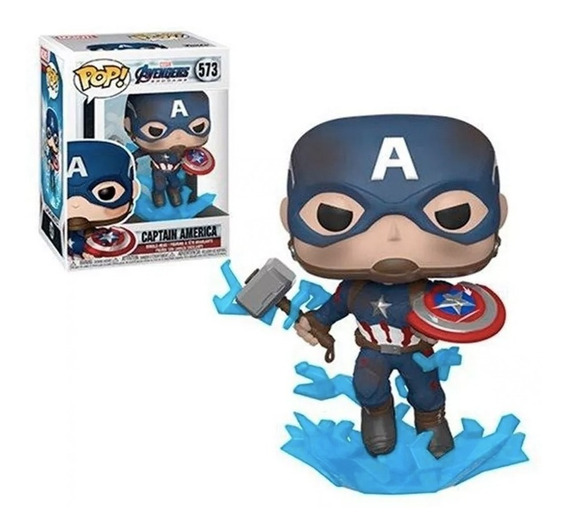 Funko Pop Capitan America W/broken Shield Mjoinir Original