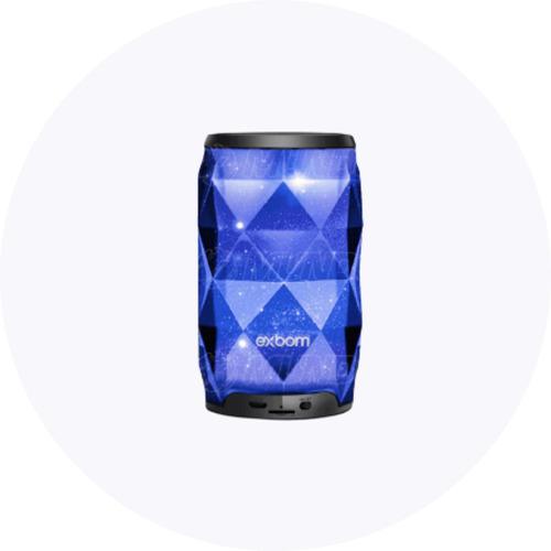 Imagem 1 de 6 de Caixa De Som Exbom Cristal Galaxia Bluetooth Led Rgb