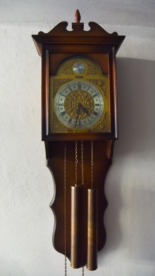 Reloj Antiguo De Pared De Dos Pesas