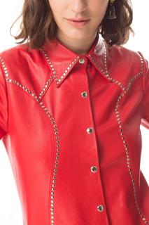 Camisa Madelaine Con Tachas Roja Las Pepas