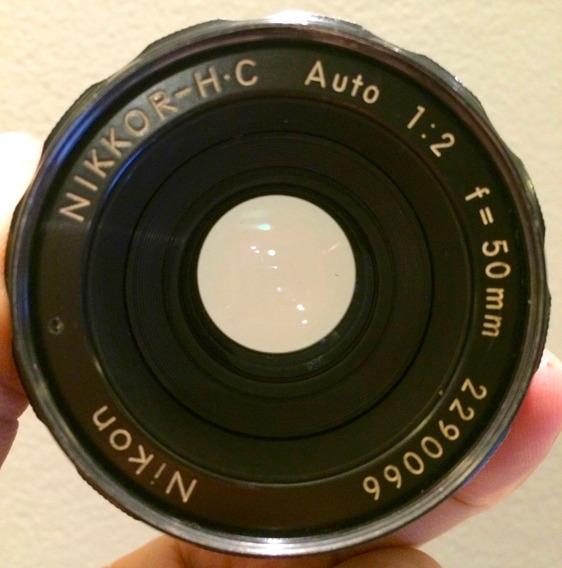 Lente Nikon Nikkor 50mm F/2 Excelente Revisada Foco Manual