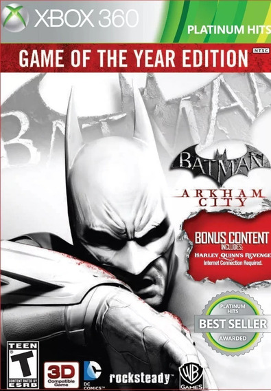 Batman Arkham City Game Of The Year Edition Xbox 360