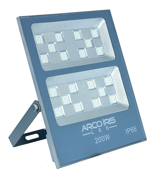 Refletor Led 200w Holofote Smd Branco Frio Bivolt Slim Ip66