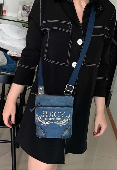 Bolsa Juicy Couture Original Transversal Azul