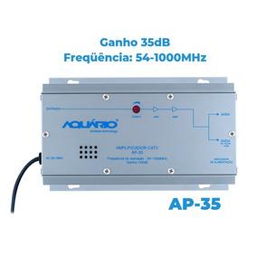 Amplificador Sinal Tv Digital Coletiva 35db Aquário Ap-35