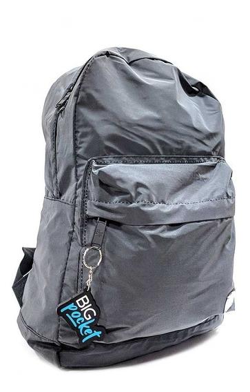Mochila Escolar Big Pocket 17p Reflex Ppr Original Negro