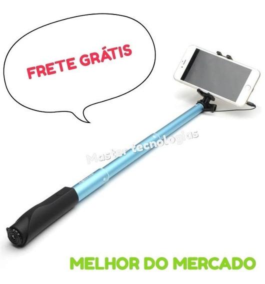 Pau Bastão Selfie Monopod + Botão Disparador Cabo P2