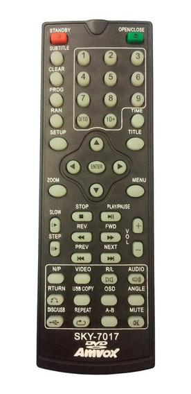 Controle Remoto Para Dvd Amvox Amd 290 Pronta Entrega