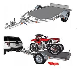 Planos Remolque Grua Motocicleta Plataforma Arrastre Motos