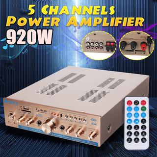 920w 5 Canales Hifi 220v Control Remoto Coche De Cine En Cas