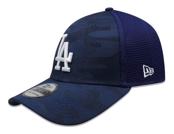Gorra New Era 39 Thirty Mlb Dodgers Camo Front Azul
