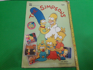 Álbum De Figurinhas The Simpsons Livro Ilustrado 1991 Raro
