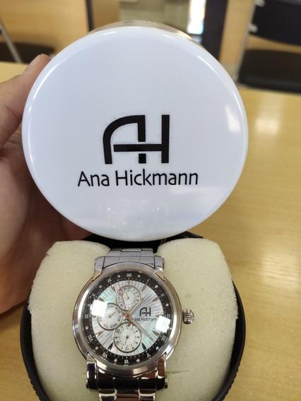 Relógio Ana Hickmann Com Pulseira De Aço