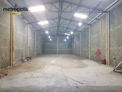 Galpão Para Alugar, 300 M² Por R$ 4.800/mês - Nova Gerti - São Caetano Do Sul/sp - Ga0059