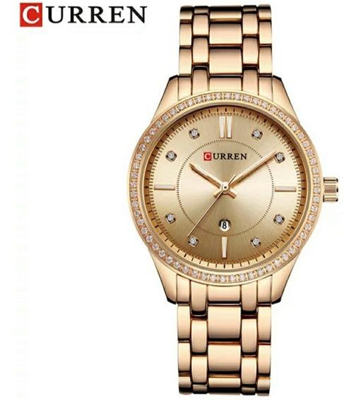 Relógios Femininos Em Aço Inoxidável Curren