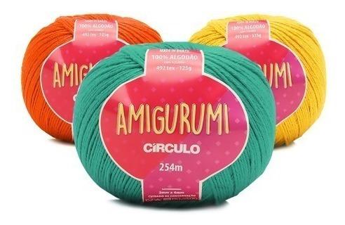Fio Amigurumi Círculo - Kit Com 12 Unidades