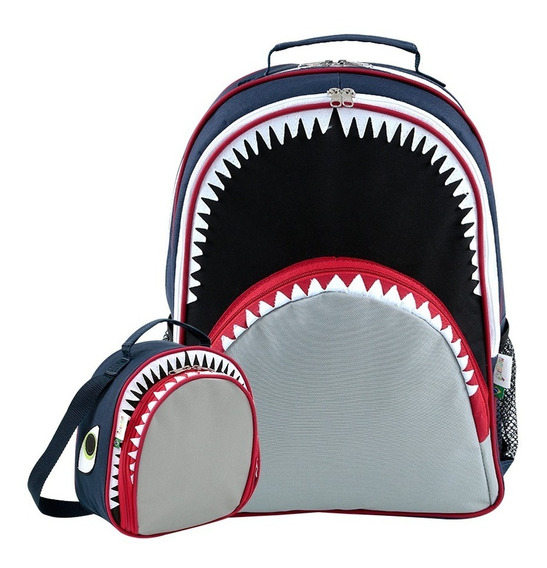 Kit Mochila Escolar Infantil E Lancheira Tubarão Mumagi