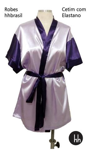 Robe De Cetim Com Elastano Com Mangas Cor Tamanho Gg
