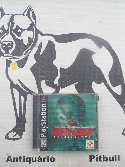 Metal Gear Solig Vr Missions Original Playstation 1