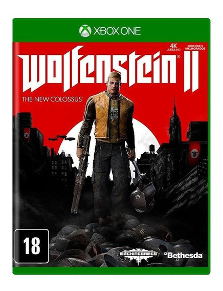 Wolfenstein Ii The New Colossus Xbox One Mídia Física Novo