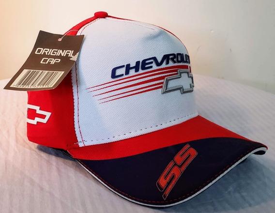 Gorra Trucker Visera Automovilismo Chevrolet Roja