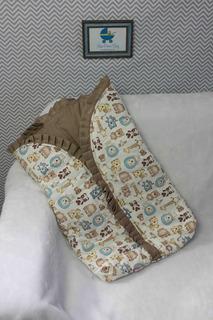Saco De Dormir Porta Bebe Cobertor Manta Algodão + Cores