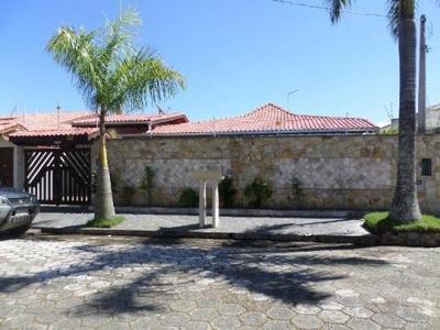 Linda Casa Na Praia, 4 Dormitórios E Piscina, Lado Praia! *