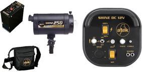 Flash Shine 250 - 12vdc Com Módulo De Bateria+carregador+ref