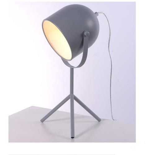 Luminária De Mesa Ava Tubular Cinza - Ol