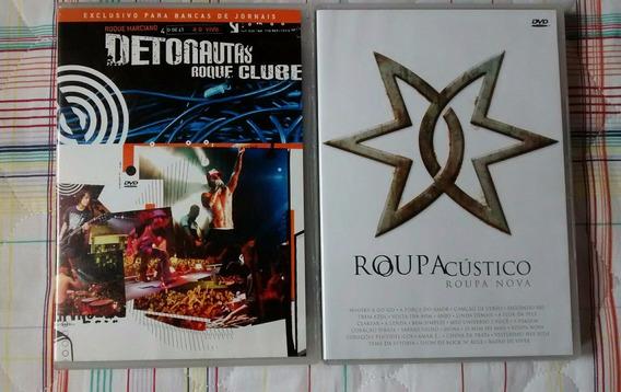 2 Dvd Detonautas Roque Clube E Dvd Roupa Nova Acústico