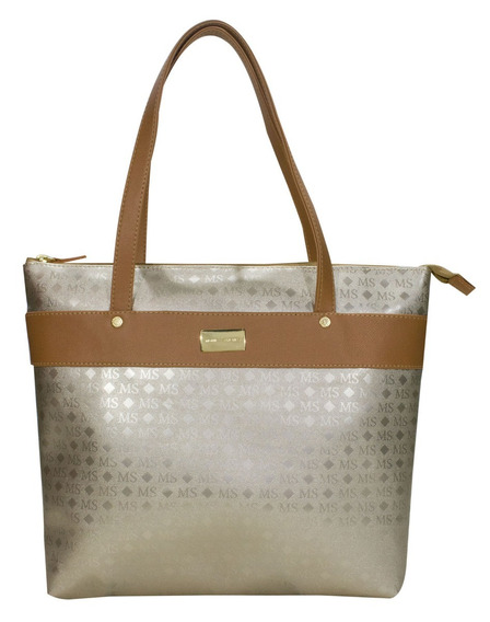 Bolsa Feminina Ouro Light 2937 Monica Sanches Original