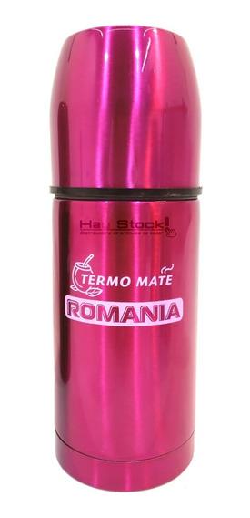 Termo Mate Listo Autocebante Acero Romania 450ml