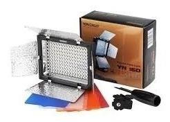 Iluminador Yn-160 + 4 Filtros + Suporte De Mão