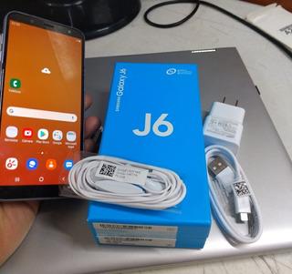 Smartphone Samsung J6 Seminuevo Caja Y Accesorios