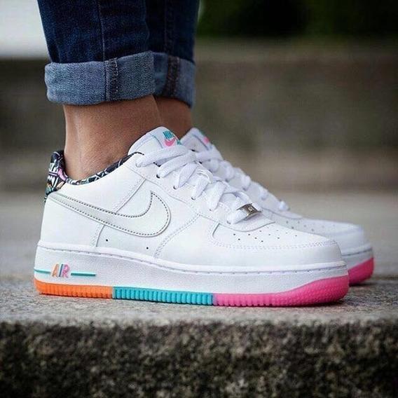 Nike Air Force Originales Mujer Suela De Color Urbanas