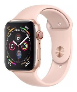 Relogio Smartwatch Iwo 8 44mm Rose Troca Pulseira F10