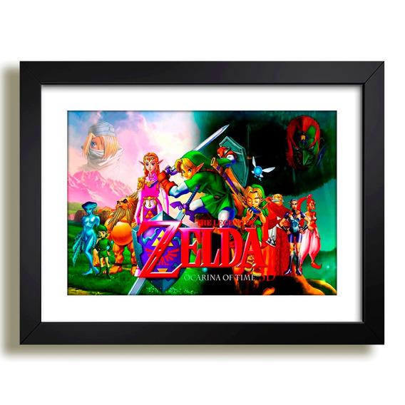 Quadro Zelda Game Rpg Nintendo Filme Serie Tv Decoracao Sala