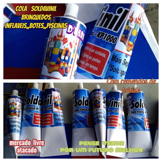 Cola Brinquedos Inflavéis Soldavinil Kit Com 04 Tubos 300 Ml