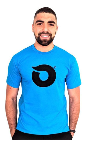 Camiseta Lobo Onda Turquesa C019