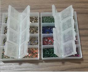 3 Kit Pedras Para Unhas + Goma Laca + Base+cartão+embalagem