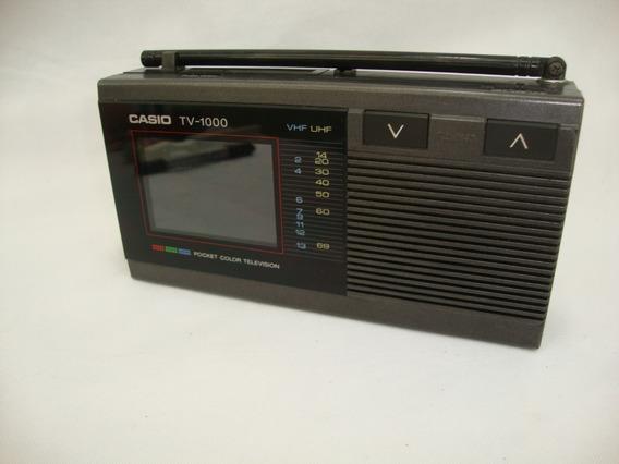 Antiga Mini Tv Casio Tv 1000 Não Funciona