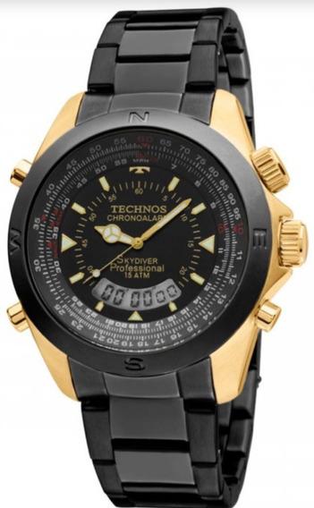 Relogio Technos Skydiver Original Masculino T20572/1p Preto